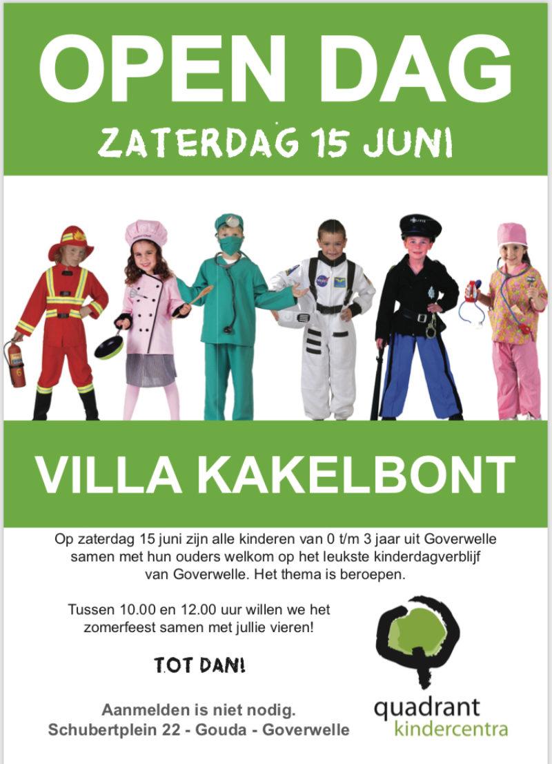 Gouda Goverwelle - Activiteiten - Wijk - Opendag / zomerfeest kindercentrum Villakakelbont