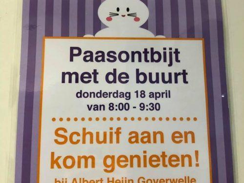 Gouda Goverwelle - Winkelcentrum - Paasontbijt bij Albert Heijn Goverwelle