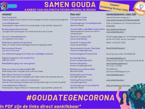 Gouda Goverwelle - Goverwelle - Aanbod van hulpinitiatieven Corona in Gouda (update 27-3)